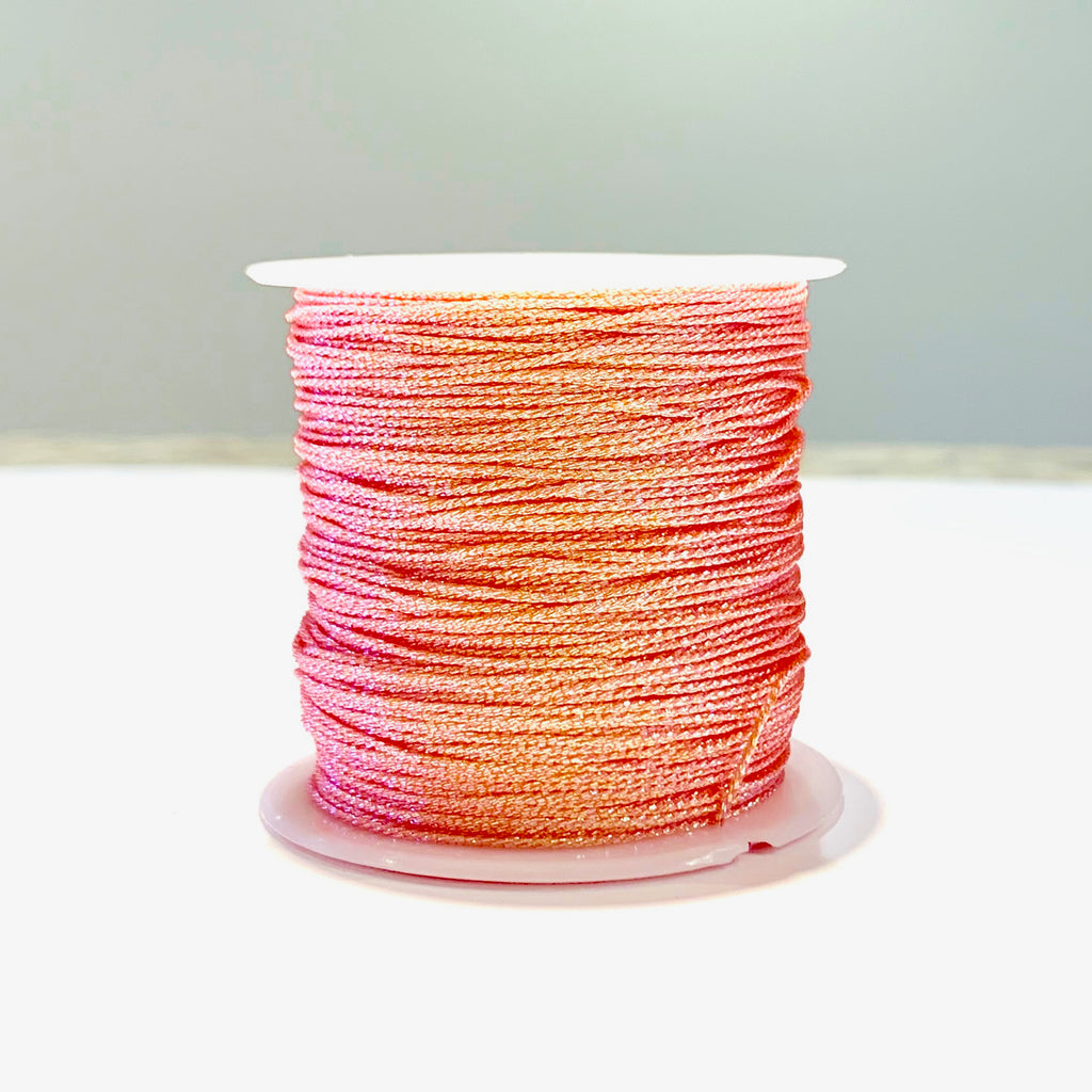 Metallic Strand Cord - Peach