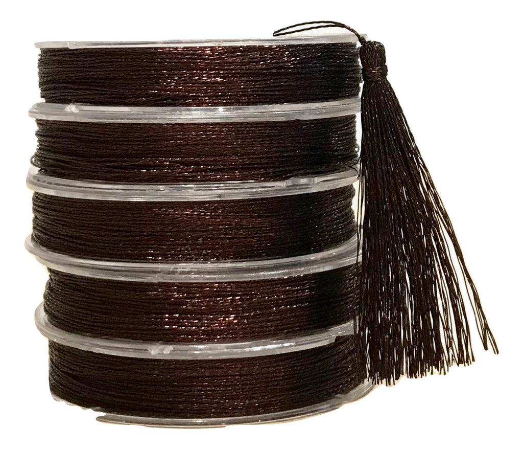 Metallic Dark Brown - Tassel Cord