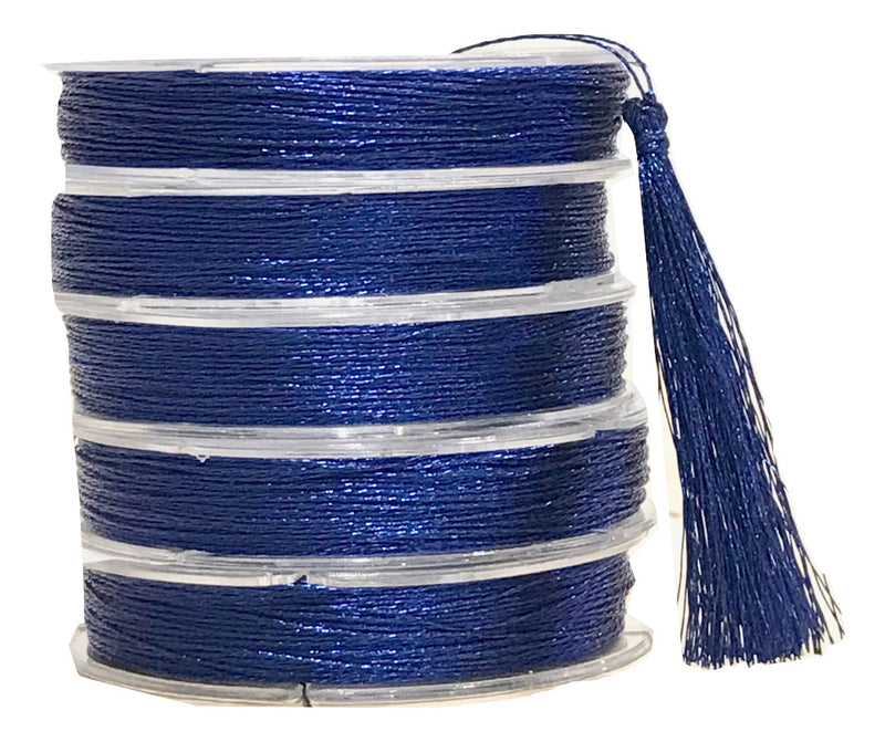 Metallic Deep Blue - Tassel Cord