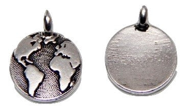 Mother Earth Charm - Antique Silver - TierraCast
