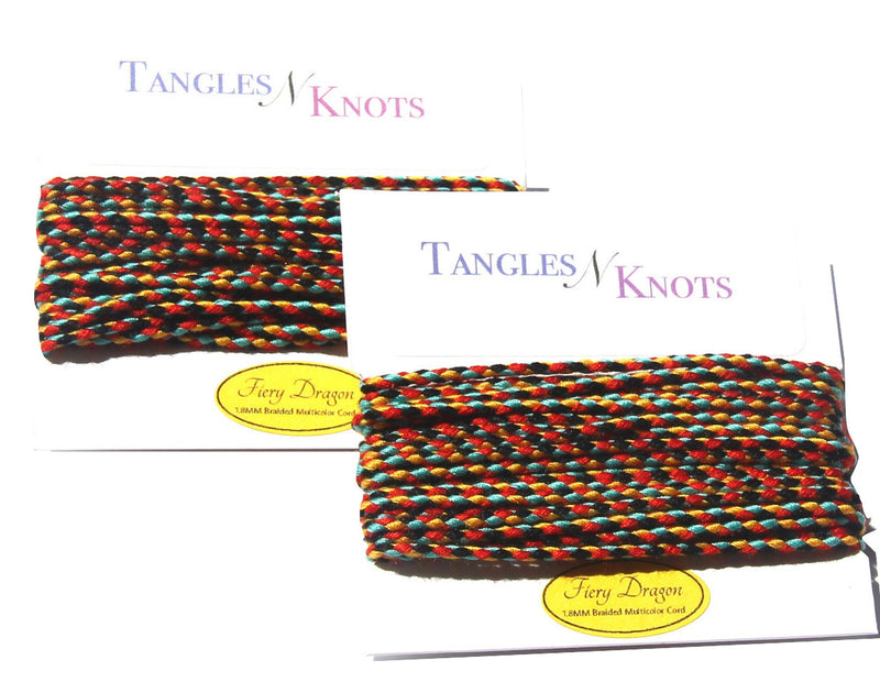 Nylon Braided Multi-Color Cord - Fiery Dragon