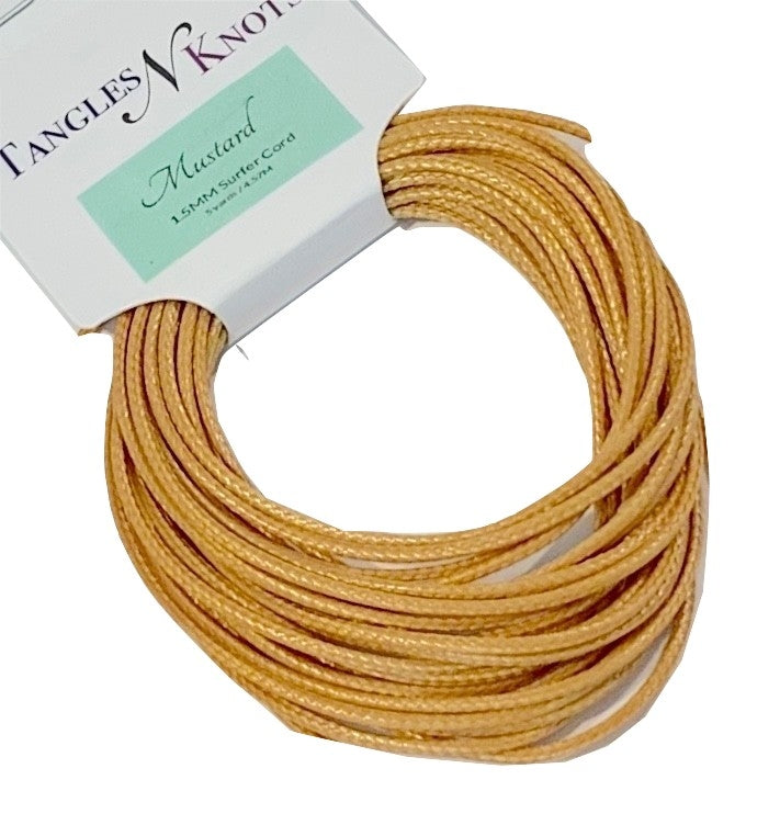 Mustard - Wax Polyester Surfer Cord - 5 or 10 yards