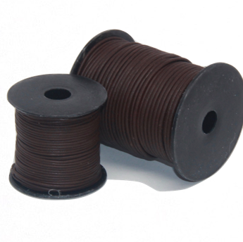 Indian Leather:    Natural Antique Walnut - 25M Roll