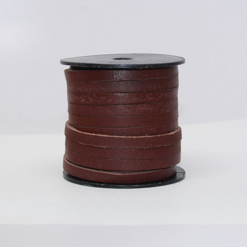 Indian Leather:  5MM Flat Natural Brown Mahagony