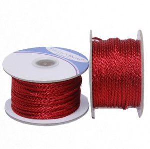 Nylon Twisted Cord - Cranberry - 2mm & 3mm