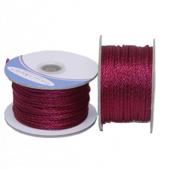 Nylon Twisted Cord - Garnet - 2mm & 3mm
