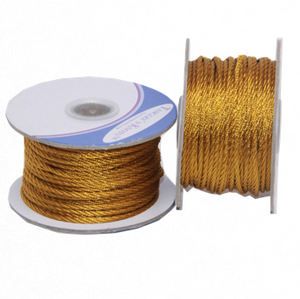 Nylon Twisted Cord - Golden Toffee - 2mm & 3mm