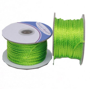Nylon Twisted Cord - Lime - 2mm & 3mm