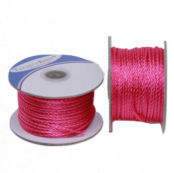 Nylon Twisted Cord - Rosy Rose - 2mm & 3mm