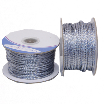 Nylon Twisted Cord - Silver Lining - 2mm & 3mm