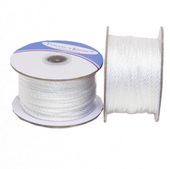 Nylon Twisted Cord - White - 2mm & 3mm