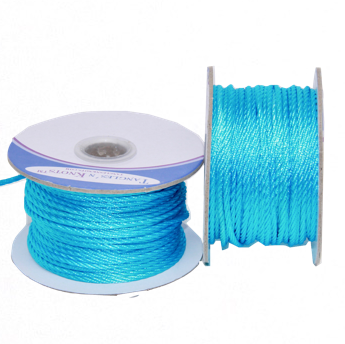 Nylon Twisted Cord - Aquamarine - 2mm & 3mm