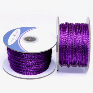 Nylon Twisted Cord - Grape - 2mm & 3mm