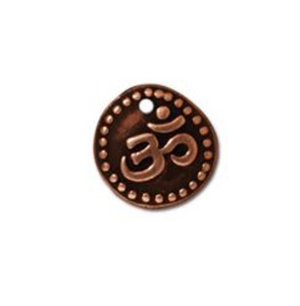 Ohm Coin Charm :Small - Copper - TierraCast