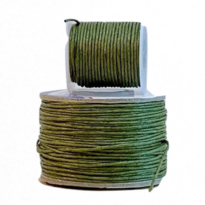 Wax Cotton Cord:  OLIVE DRAB - 1MM