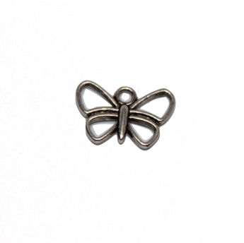 Open Butterfly Charm - Antique Silver