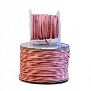 Wax Cotton Cord:  PINK - 1MM