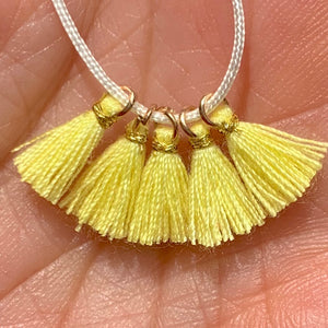 Pale Yellow - Tiny Tassel
