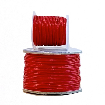 Wax Cotton Cord:  RED - 1MM