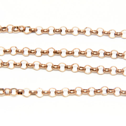 Rolo Chain - 4 x 2.5MM - Gold Plated - TierraCast