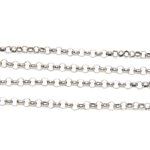 Rolo Chain - 4 x 2.5MM - Silver Plated - TierraCast