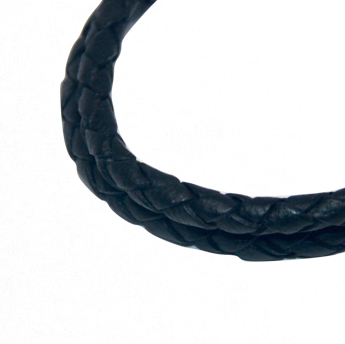 Round Braided Indian Leather:  Natural Black:  12 Inches