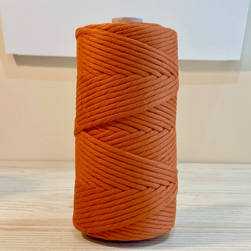 Rust - 5MM Single Strand Cotton Macrame Cord (100M)