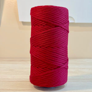 Scarlet - 5MM Single Strand Cotton Macrame Cord (100M)