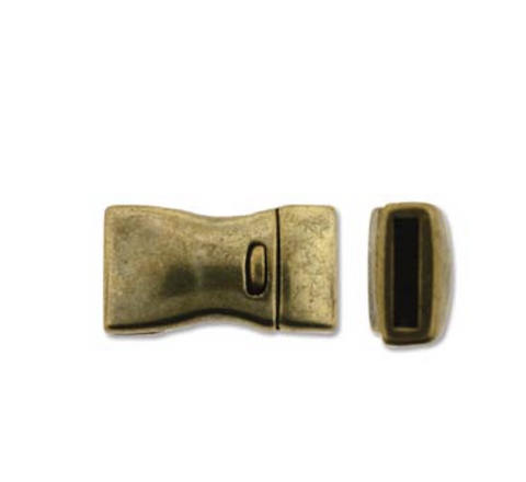 Bow Single :  Magnetic Rectangular Clasp :  Gold
