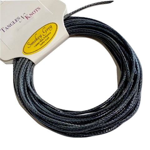 Smokey Gray - Wax Polyester Surfer Cord - 5 or 10 yards