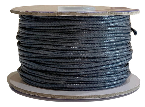Smokey Gray - Wax Polyester Surfer Cord - 45 or 50 yd rolls