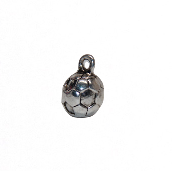 Soccer 3D Charm - Antique Silver