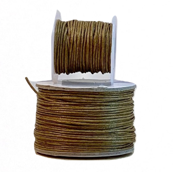 Wax Cotton Cord:  TAWNY - 1MM