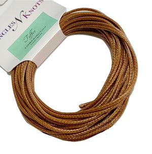 Toffee - Wax Polyester Surfer Cord - 5 yard bundle