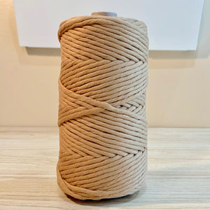 Tortilla - 5MM Single Strand Cotton Macrame Cord (100M)