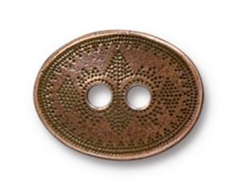 Button- Tribal - Copper - TierraCast