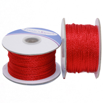 Nylon Twisted Cord - Red - 2mm & 3mm