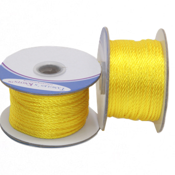Nylon Twisted Cord - Yellow - 2mm & 3mm