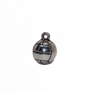 Volleyballl 3D Charm - Antique Silver