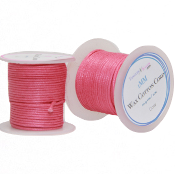 Wax Cotton Cord:  CORAL - 10M Spool