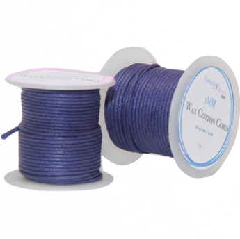 Wax Cotton Cord:  IRIS - 10M Spool