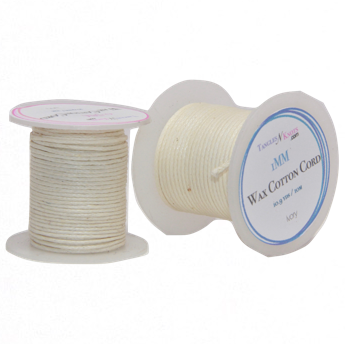 Wax Cotton Cord:  IVORY - 10M Spool