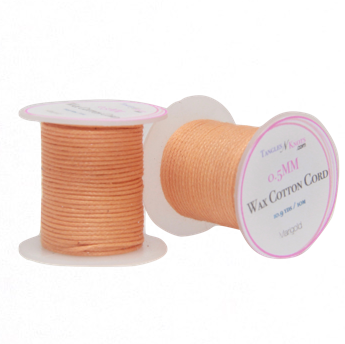 Wax Cotton Cord:  MARIGOLD - 10M Spool:   0.5MM Only
