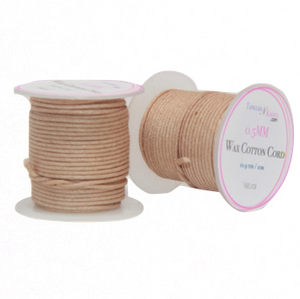 Wax Cotton Cord:  NATURAL:  0.5MM Only