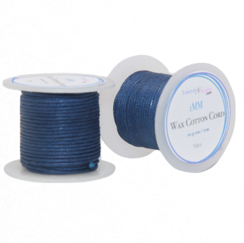 Wax Cotton Cord:  NAVY - 10M Spool:   1MM Only