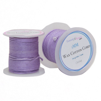Wax Cotton Cord:  ORCHID:  10M Spool
