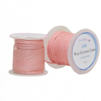 Wax Cotton Cord:  PEACH - 10M Spool