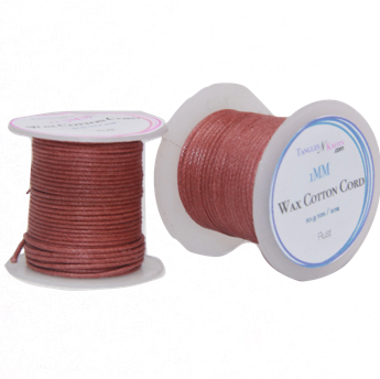 Wax Cotton Cord:  RUST - 10M Spool