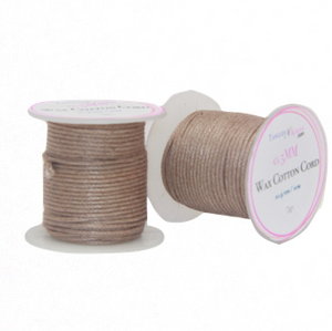 Wax Cotton Cord:  TAN:  0.5MM Only