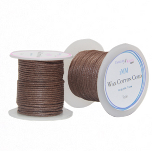 Wax Cotton Cord:  TEAK - 10M Spool
